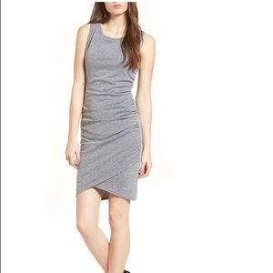 Leith Gray Ruched Bodycon Tank Dress size Large